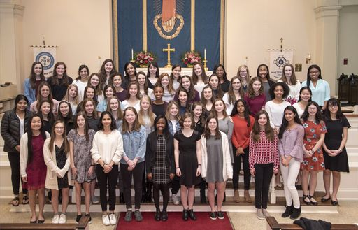 Fifty-four Girls Inducted into Beta Club