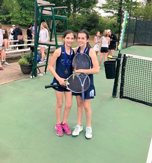 Middle School Tennis Wins Doubles Championship